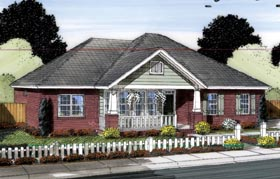 Traditional , Cottage House Plan 66546 with 3 Beds, 2 Baths, 2 Car Garage Elevation