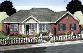 Traditional House Plan 66548 Elevation