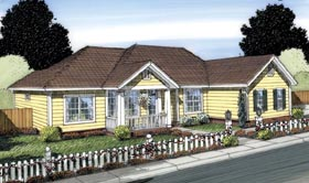 Traditional House Plan 66551 Elevation