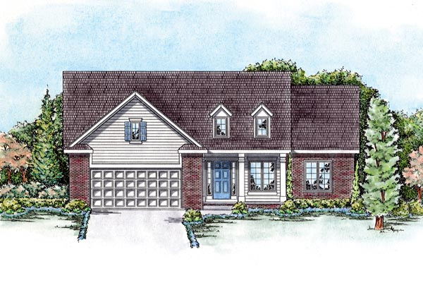 European House Plan 66554 Elevation
