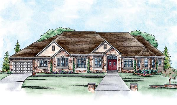 Traditional House Plan 66561 Elevation