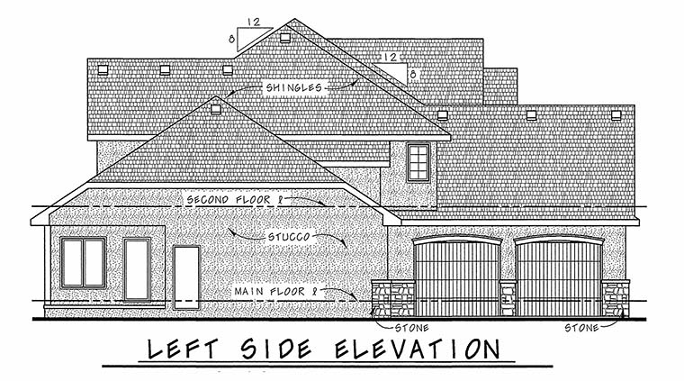 European House Plan 66567 with 4 Beds, 5 Baths, 3 Car Garage Picture 2