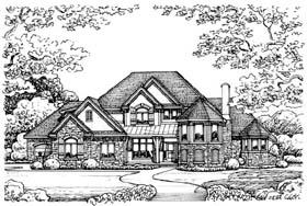 European House Plan 66568 Elevation