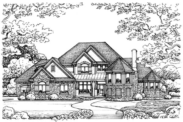 European House Plan 66568 Elevation