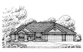 Traditional House Plan 66570 Elevation