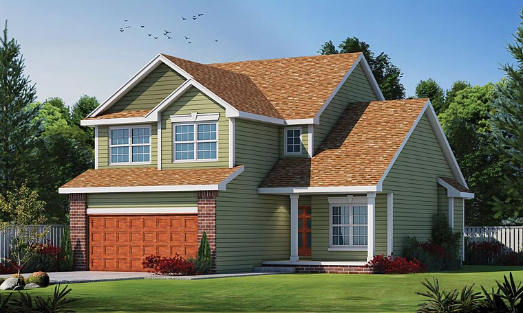 House Plan 66573 | Traditional Style Plan with 1840 Sq Ft, 3 Bedrooms, 3 Bathrooms, 2 Car Garage Elevation