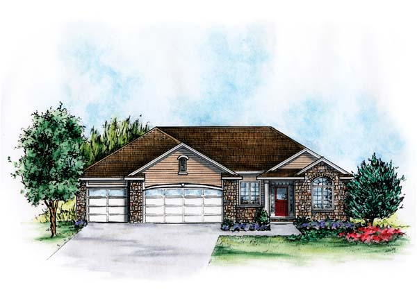 European House Plan 66574 with 2 Beds, 4 Baths, 3 Car Garage Elevation
