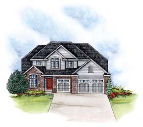 Traditional House Plan 66578 with 4 Beds, 4 Baths, 3 Car Garage Elevation