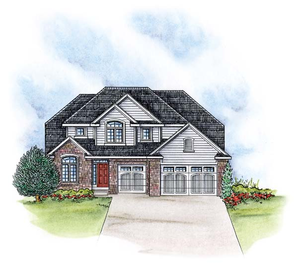Traditional House Plan 66578 Elevation