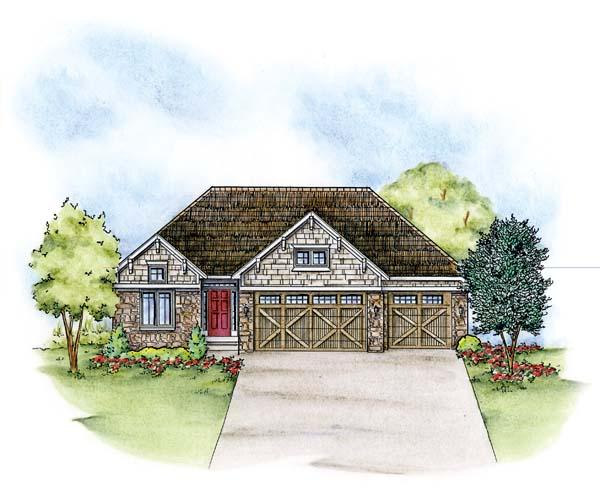 Craftsman House Plan 66580 Elevation