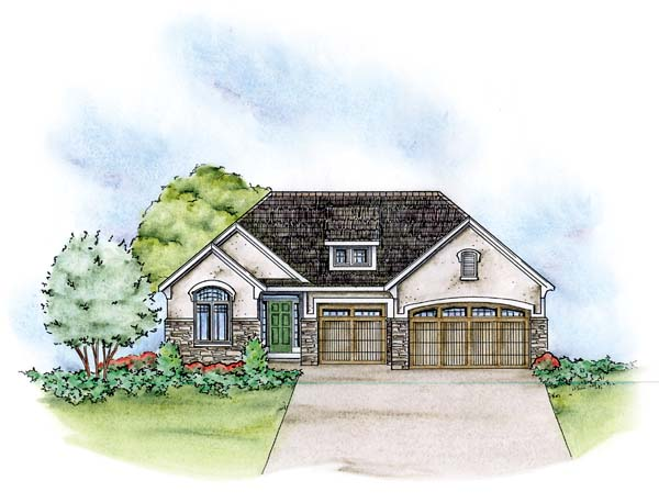 European House Plan 66583 Elevation