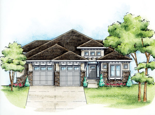 European House Plan 66584 Elevation