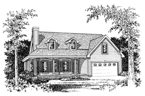 Farmhouse House Plan 66586 Elevation
