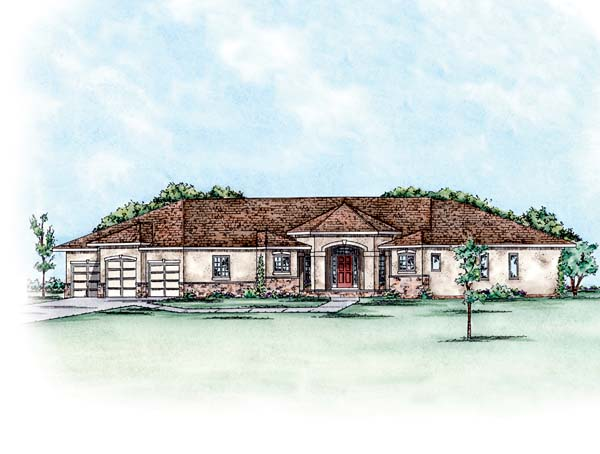 European House Plan 66588 Elevation