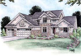 Craftsman House Plan 66589 Elevation
