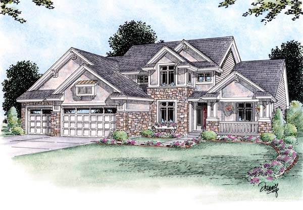 Craftsman House Plan 66589 Elevation