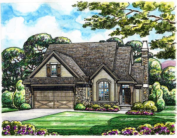European House Plan 66590 Elevation