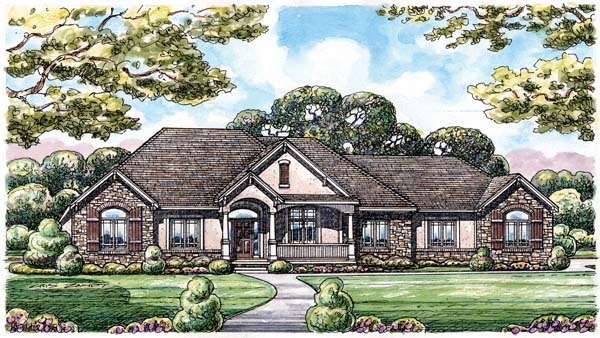 European House Plan 66592 Elevation