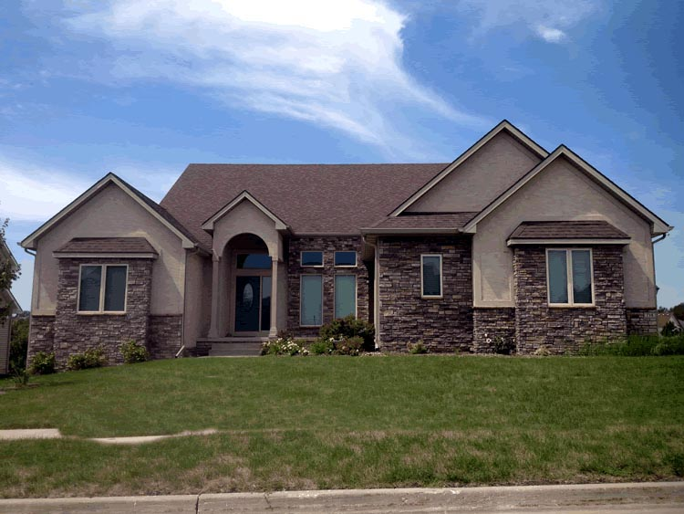 European House Plan 66594 with 2 Beds, 3 Baths, 3 Car Garage Picture 1