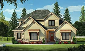 House Plan 66598 | Craftsman Style House Plan with 2596 Sq Ft, 4 Bed, 4 Bath, 2 Car Garage Elevation