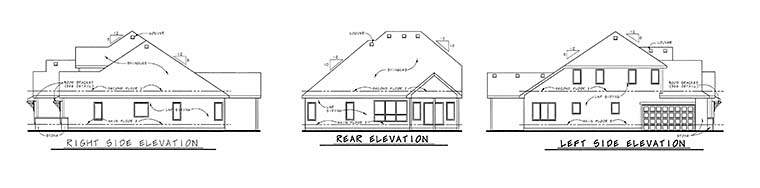 Craftsman House Plan 66598 Rear Elevation