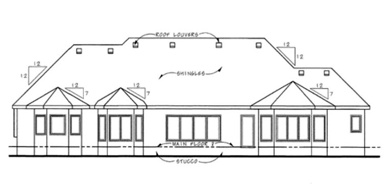 European House Plan 66602 Rear Elevation