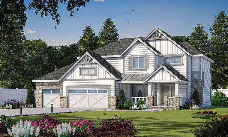 Craftsman House Plan 66604 Elevation