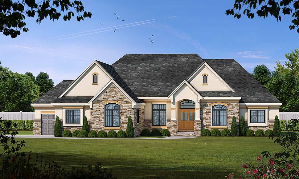 European House Plan 66605 Elevation