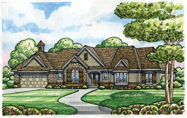 European House Plan 66606 Elevation