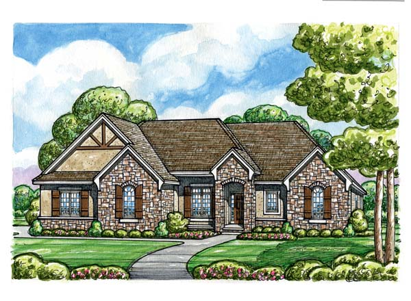 House Plan 66607 | European Style Plan with 2485 Sq Ft, 3 Bedrooms, 3 Bathrooms, 3 Car Garage Elevation