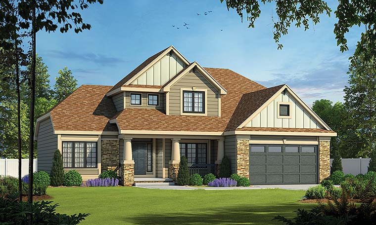 Craftsman House Plan 66610 with 4 Beds, 3 Baths, 2 Car Garage Picture 3