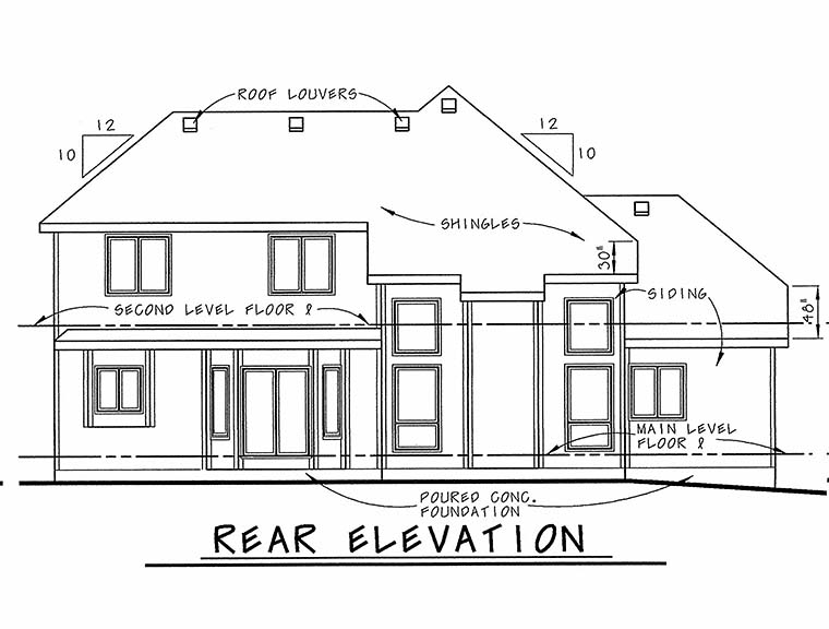 Craftsman House Plan 66610 Rear Elevation