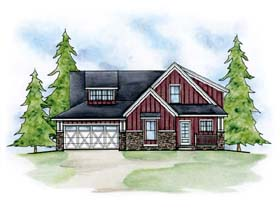 Traditional House Plan 66611 Elevation
