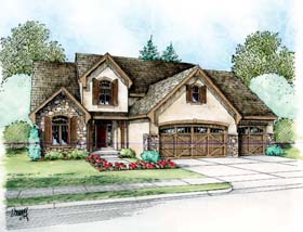 Country European House Plan 66613 Elevation