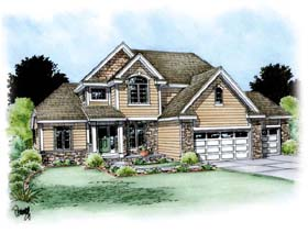 Traditional House Plan 66615 Elevation