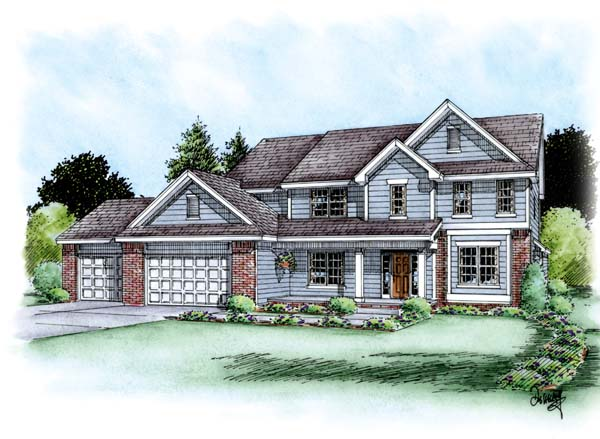 Traditional House Plan 66616 Elevation