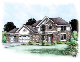 Traditional House Plan 66617 Elevation