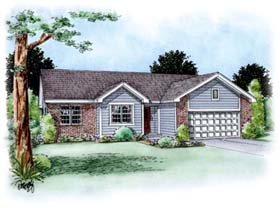 Traditional House Plan 66618 Elevation
