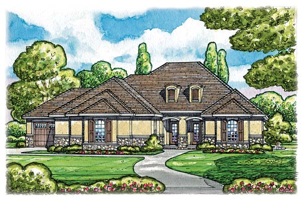 Country European House Plan 66625 Elevation