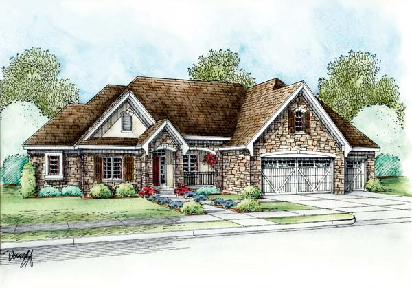 Country European House Plan 66627 Elevation
