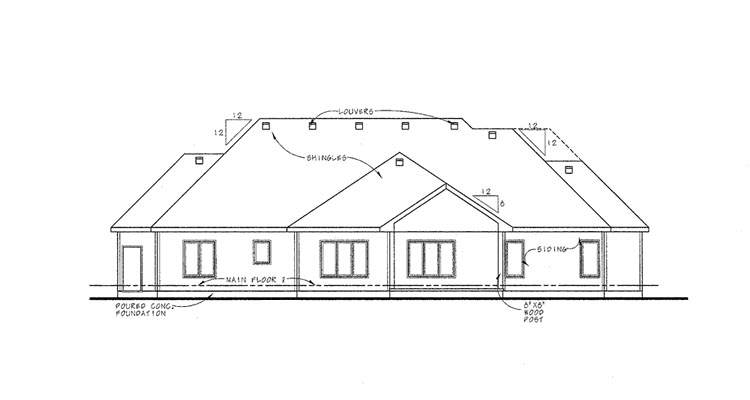 Country European House Plan 66627 Rear Elevation