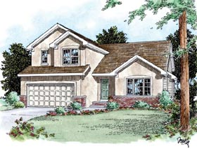 House Plan 66632 | Traditional Style Plan with 1573 Sq Ft, 3 Bedrooms, 2 Bathrooms, 2 Car Garage Elevation