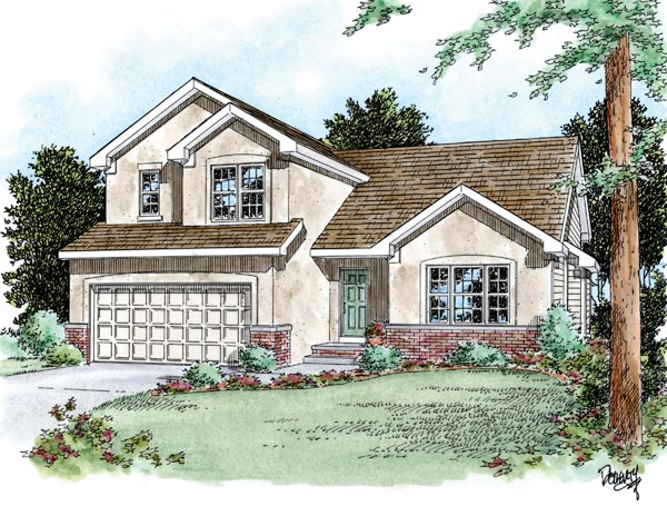 Traditional House Plan 66632 Elevation