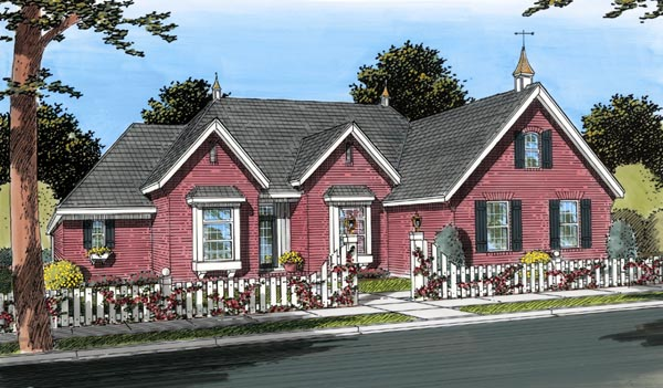 European House Plan 66635 Elevation