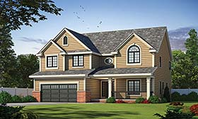 House Plan 66636 | Traditional Style Plan with 2671 Sq Ft, 4 Bedrooms, 3 Bathrooms, 2 Car Garage Elevation