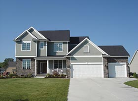 Traditional House Plan 66651 with 4 Beds, 3 Baths, 2 Car Garage Elevation