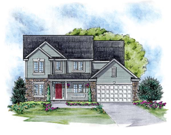 Traditional House Plan 66651 with 4 Beds, 3 Baths, 2 Car Garage Picture 1