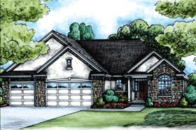 Country European House Plan 66653 Elevation