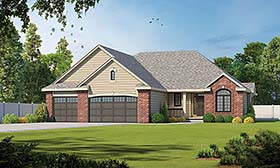 House Plan 66656 | Traditional Style Plan with 2183 Sq Ft, 3 Bedrooms, 3 Bathrooms, 3 Car Garage Elevation