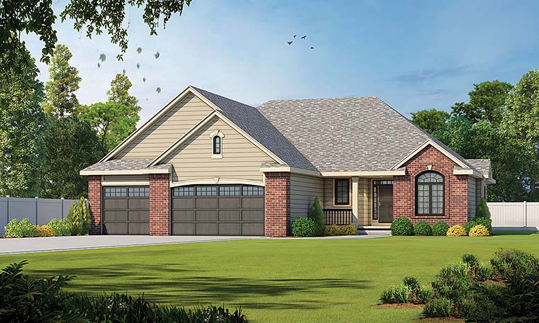 Traditional House Plan 66656 Elevation